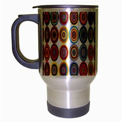 Decorative Ornamental Concentric Travel Mug (silver Gray) by Celenk