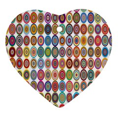 Decorative Ornamental Concentric Heart Ornament (two Sides) by Celenk