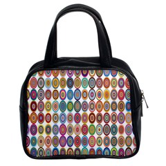 Decorative Ornamental Concentric Classic Handbags (2 Sides) by Celenk