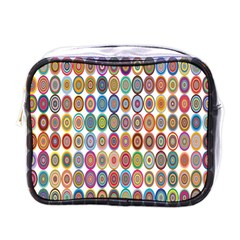 Decorative Ornamental Concentric Mini Toiletries Bags by Celenk