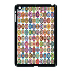 Decorative Ornamental Concentric Apple Ipad Mini Case (black) by Celenk