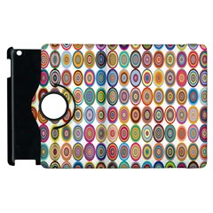 Decorative Ornamental Concentric Apple Ipad 2 Flip 360 Case by Celenk