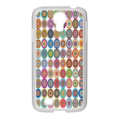 Decorative Ornamental Concentric Samsung Galaxy S4 I9500/ I9505 Case (white) by Celenk