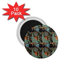 Pattern Background Fish Wallpaper 1 75  Magnets (10 Pack)  by Celenk