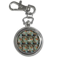Pattern Background Fish Wallpaper Key Chain Watches by Celenk