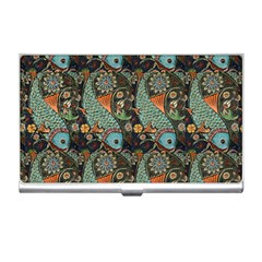 Pattern Background Fish Wallpaper Business Card Holders by Celenk