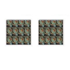 Pattern Background Fish Wallpaper Cufflinks (square) by Celenk