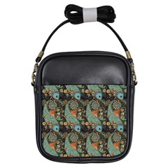 Pattern Background Fish Wallpaper Girls Sling Bags by Celenk