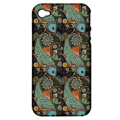 Pattern Background Fish Wallpaper Apple Iphone 4/4s Hardshell Case (pc+silicone) by Celenk