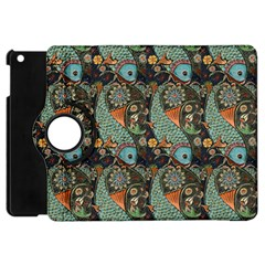 Pattern Background Fish Wallpaper Apple Ipad Mini Flip 360 Case by Celenk