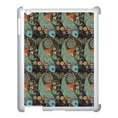 Pattern Background Fish Wallpaper Apple Ipad 3/4 Case (white) by Celenk
