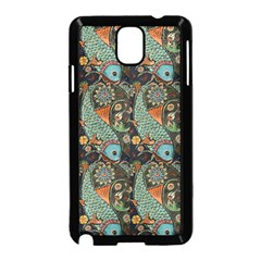 Pattern Background Fish Wallpaper Samsung Galaxy Note 3 Neo Hardshell Case (black) by Celenk