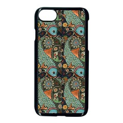 Pattern Background Fish Wallpaper Apple Iphone 8 Seamless Case (black) by Celenk