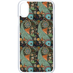 Pattern Background Fish Wallpaper Apple Iphone X Seamless Case (white)