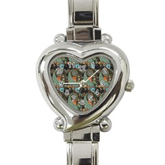 Pattern Background Fish Wallpaper Heart Italian Charm Watch by Celenk