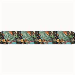 Pattern Background Fish Wallpaper Small Bar Mats by Celenk