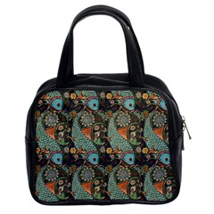 Pattern Background Fish Wallpaper Classic Handbags (2 Sides) by Celenk