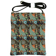 Pattern Background Fish Wallpaper Shoulder Sling Bags by Celenk