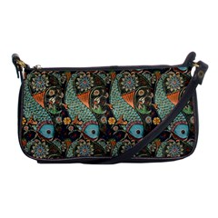 Pattern Background Fish Wallpaper Shoulder Clutch Bags by Celenk