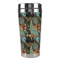 Pattern Background Fish Wallpaper Stainless Steel Travel Tumblers by Celenk