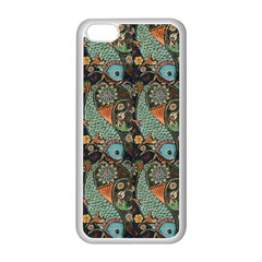 Pattern Background Fish Wallpaper Apple Iphone 5c Seamless Case (white)