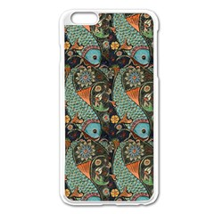 Pattern Background Fish Wallpaper Apple Iphone 6 Plus/6s Plus Enamel White Case by Celenk