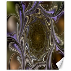 Fractal Waves Whirls Modern Canvas 8  X 10  by Celenk