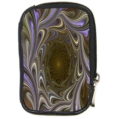 Fractal Waves Whirls Modern Compact Camera Cases by Celenk