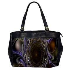 Fractal Waves Whirls Modern Office Handbags by Celenk