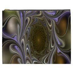 Fractal Waves Whirls Modern Cosmetic Bag (xxxl)  by Celenk