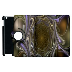 Fractal Waves Whirls Modern Apple Ipad 2 Flip 360 Case by Celenk