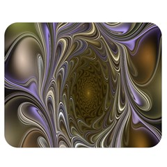 Fractal Waves Whirls Modern Double Sided Flano Blanket (medium)  by Celenk