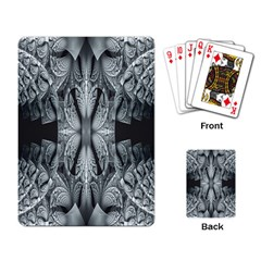 Fractal Blue Lace Texture Pattern Playing Card by Celenk