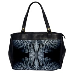 Fractal Blue Lace Texture Pattern Office Handbags by Celenk