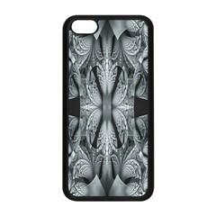 Fractal Blue Lace Texture Pattern Apple Iphone 5c Seamless Case (black) by Celenk