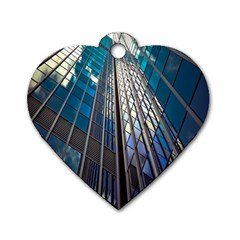 Architecture Skyscraper Dog Tag Heart (one Side) by Celenk