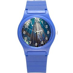 Architecture Skyscraper Round Plastic Sport Watch (s) by Celenk