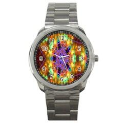 Kaleidoscope Pattern Ornament Sport Metal Watch by Celenk