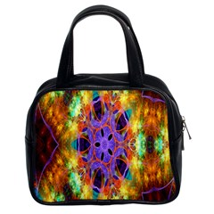 Kaleidoscope Pattern Ornament Classic Handbags (2 Sides) by Celenk