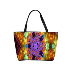 Kaleidoscope Pattern Ornament Shoulder Handbags by Celenk
