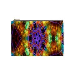 Kaleidoscope Pattern Ornament Cosmetic Bag (medium)  by Celenk