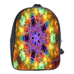 Kaleidoscope Pattern Ornament School Bag (xl) by Celenk
