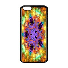 Kaleidoscope Pattern Ornament Apple Iphone 6/6s Black Enamel Case by Celenk
