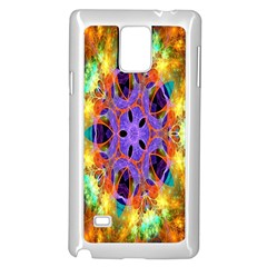 Kaleidoscope Pattern Ornament Samsung Galaxy Note 4 Case (white) by Celenk