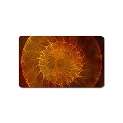 Orange Warm Hues Fractal Chaos Magnet (name Card) by Celenk