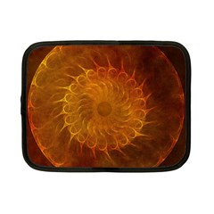 Orange Warm Hues Fractal Chaos Netbook Case (small)  by Celenk