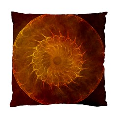 Orange Warm Hues Fractal Chaos Standard Cushion Case (one Side) by Celenk