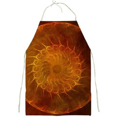 Orange Warm Hues Fractal Chaos Full Print Aprons by Celenk