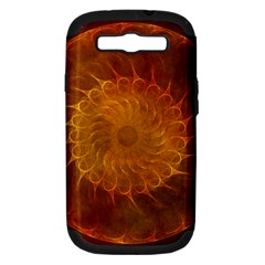 Orange Warm Hues Fractal Chaos Samsung Galaxy S Iii Hardshell Case (pc+silicone) by Celenk