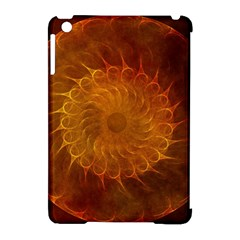 Orange Warm Hues Fractal Chaos Apple Ipad Mini Hardshell Case (compatible With Smart Cover) by Celenk